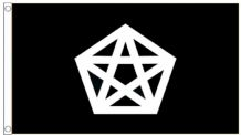 Pentacle & Pentagram 5'x3' (150cm x 90cm) Flag